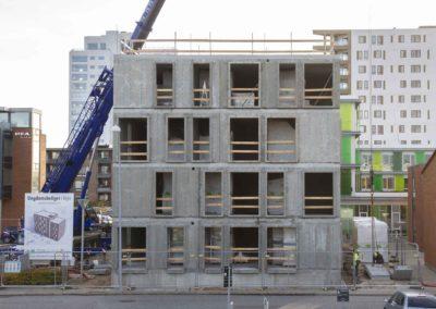Hejsning og montering af elementer - Havneparken Ungdomsboliger 1
