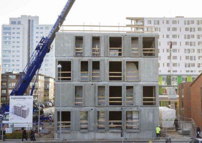 Hejsning og montering af elementer - Havneparken Ungdomsboliger 3
