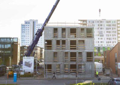 Hejsning og montering af elementer - Havneparken Ungdomsboliger 4