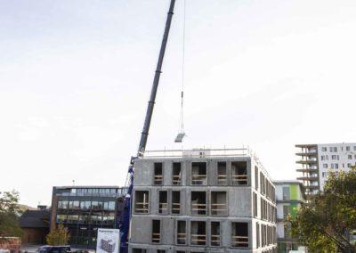Hejsning og montering af elementer - Havneparken Ungdomsboliger 9