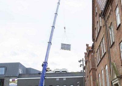 KG Mobilkraner - Hejs af ventilation på Føtex i Vejle 13