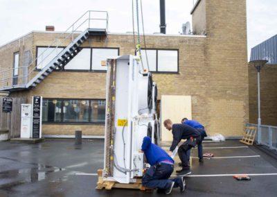 KG Mobilkraner - Hejs af ventilation på Føtex i Vejle 18