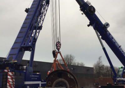 KG Mobilkraner flytter 90 tons boremaskine_0004