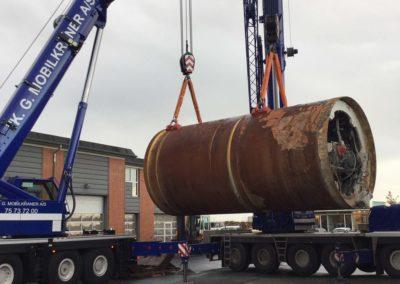 KG Mobilkraner flytter 90 tons boremaskine_0008
