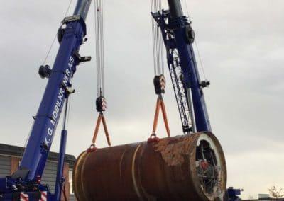 KG Mobilkraner flytter 90 tons boremaskine_0009