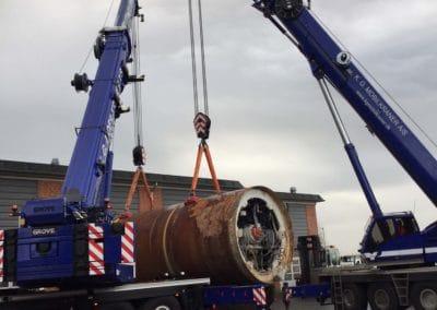 KG Mobilkraner flytter 90 tons boremaskine_0012